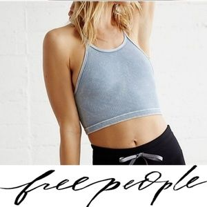 Free People Happiness Crop Top Blue